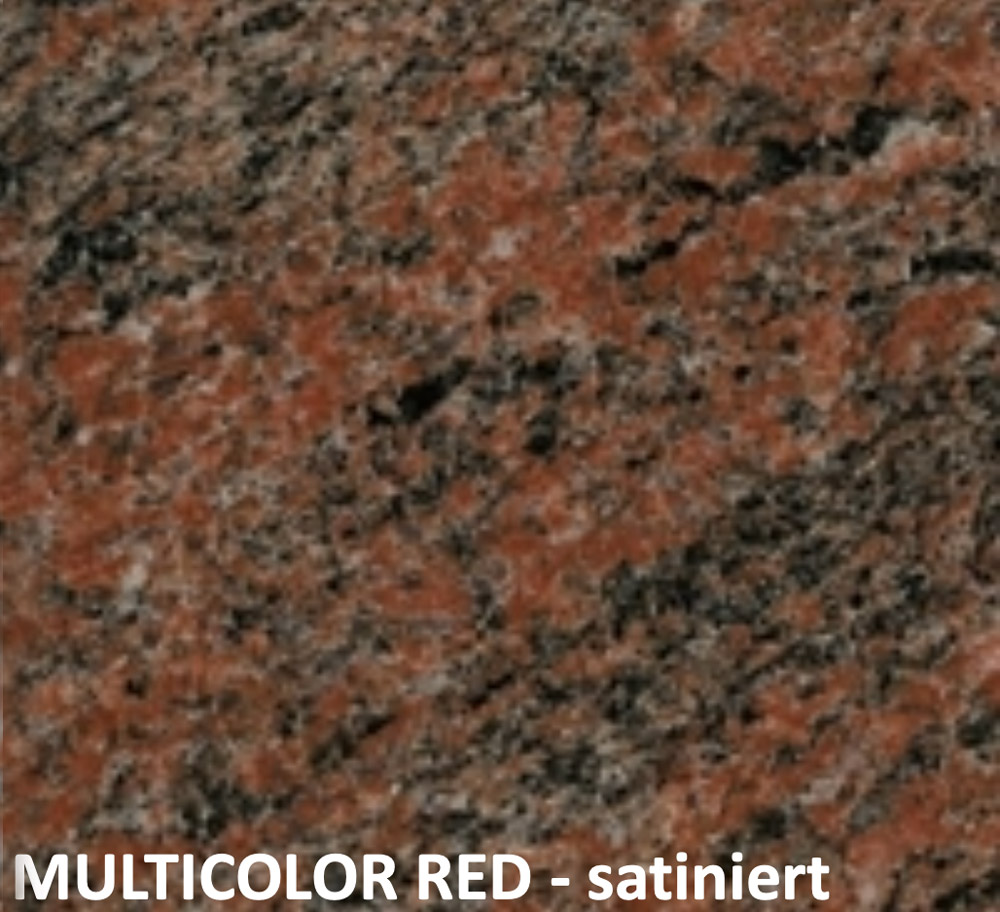 multicolor red satiniert