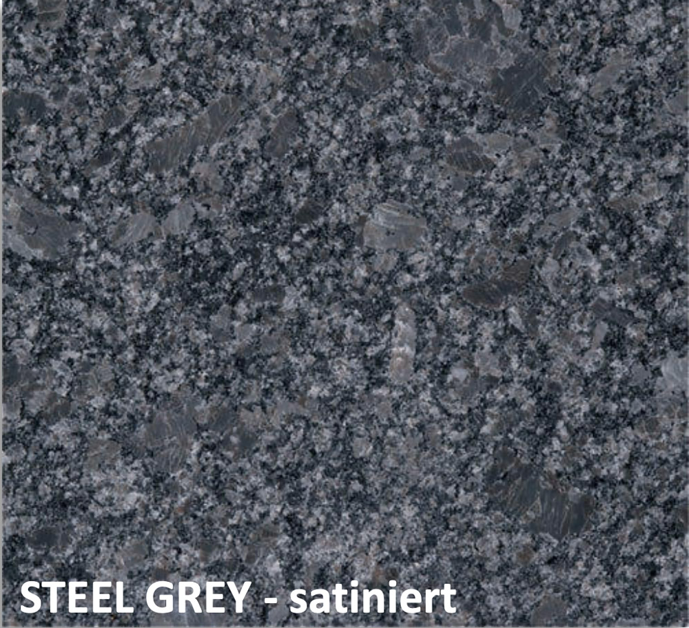 steel grey satiniert